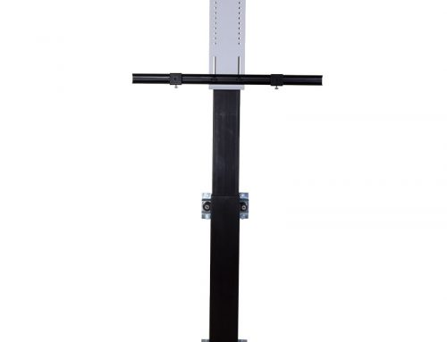 Powered Monitor Lift Column with Integrated Dampening